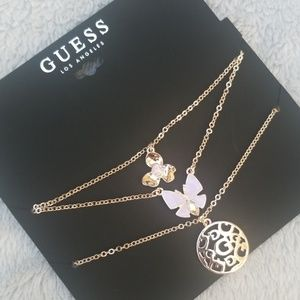 2\$25 ♡ Guess 3 Layers Necklace NWOT